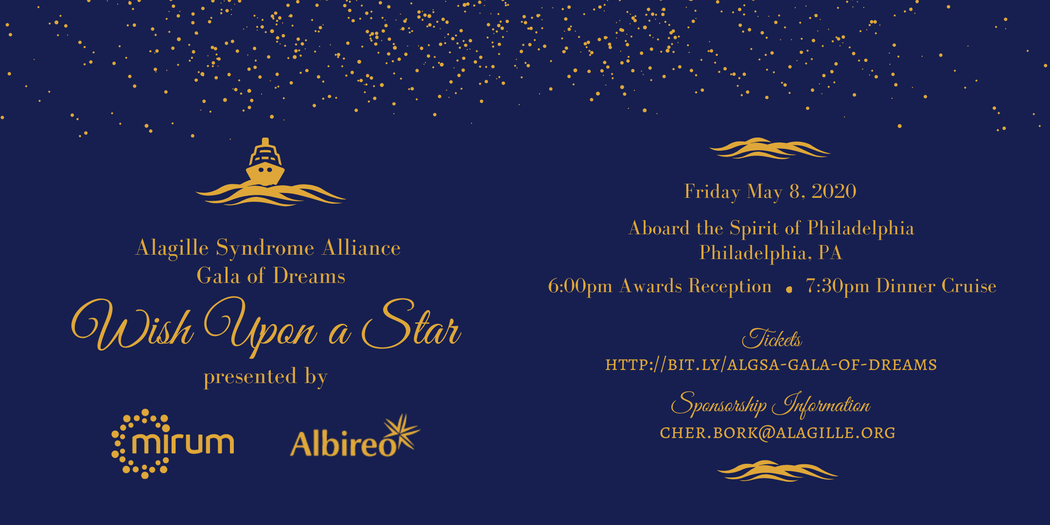 ALGSA 2019 Gala of Dreams Graphic